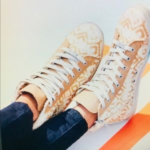 Free People Kim & Zozi Hippie Bling High Tops